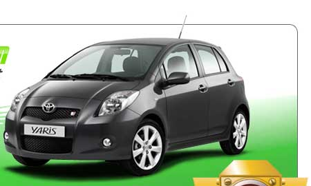 Photo of a toyota yaris a fine car for a bad credit car loan